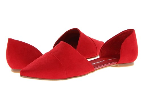 Chinese Laundry Easy Does It Flat Red Suede Slip On Shoes P3Xquj5