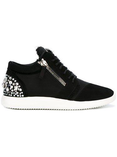 Giuseppe Zanotti Design 'Melly' Low Top Sneakers Black tUehFfLs