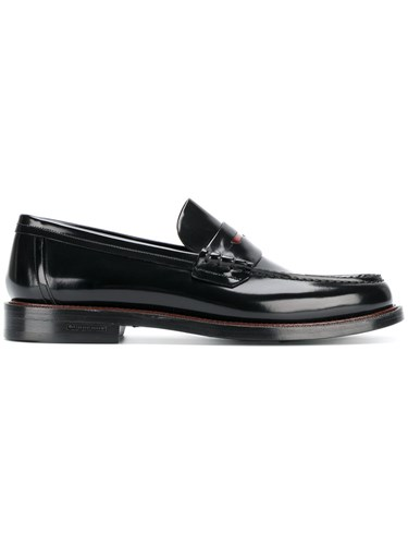 Burberry Classic Penny Loafers Calf Leather Leather Rubber Black SUGGJ