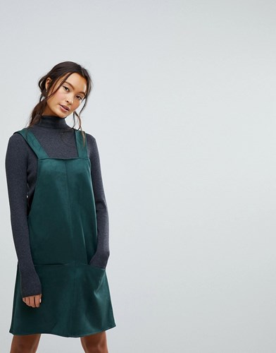 New Look Suedette Pini Dress Green w5L5EUgex