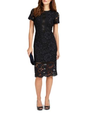 Phase Eight Darena Lace Dress Navy 4FHiYdiot
