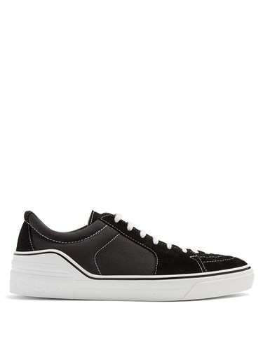Givenchy George V Low Top Suede Trainers Black yFWfwdW
