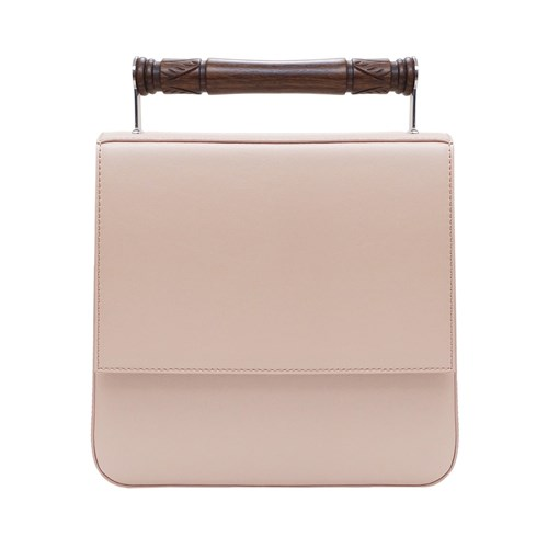 AEVHA London Helve Crossbody In Taupe With Wooden Handle Neutrals 1dbs7