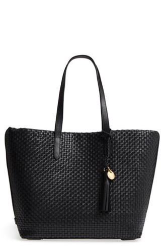 Cole Haan Payson Rfid Woven Leather Tote Black JxfAcL