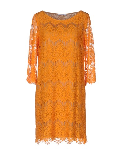 Liu Jo Jeans Short Dresses Orange RdDTca