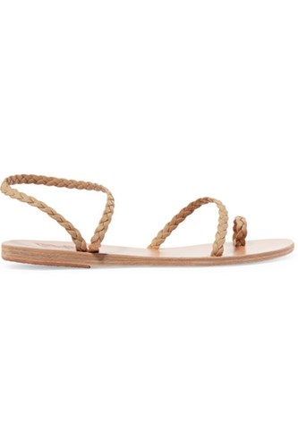 Ancient Greek Sandals Eleftheria Braided Leather Neutral Cpov4