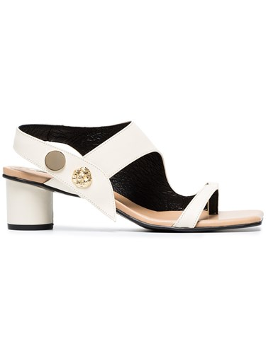 Leather 40 Cream Embellished Sandals And Reike Nen Nude Neutrals IOqR1S