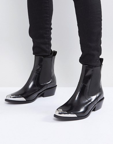 Boots Western Leather Asos Amberley Chelsea Black qwOnx7fpTB
