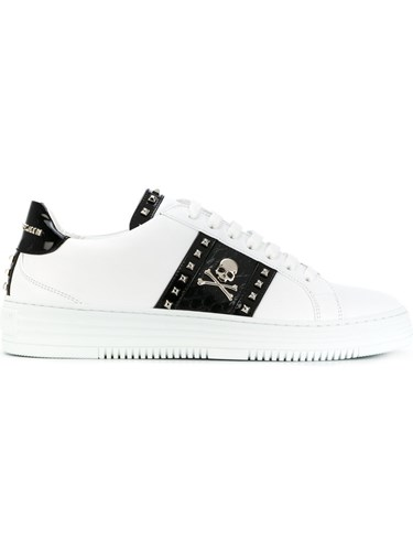Philipp Plein Get On Low Top Sneakers Leather Rubber White qPJyIIjL