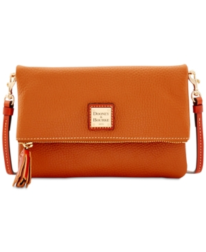 Dooney & Bourke Foldover Zip Small Crossbody Caramel Pm5TCwgHob