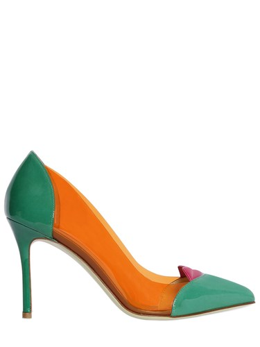 Giannico 100Mm Lola Plexi And Patent Leather Pumps wEWoWmbQQ
