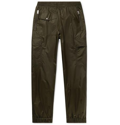 Tapered Shell Track Pants Army Green