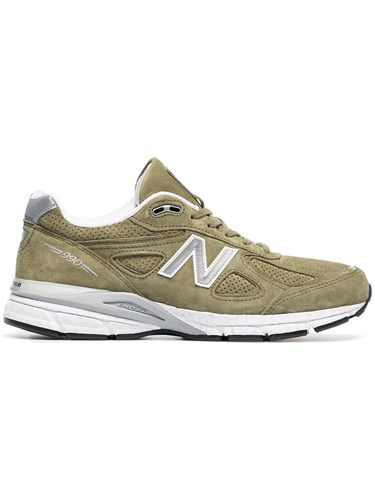 New Balance Green 990V4 Suede Low 7Kr1oWlCo