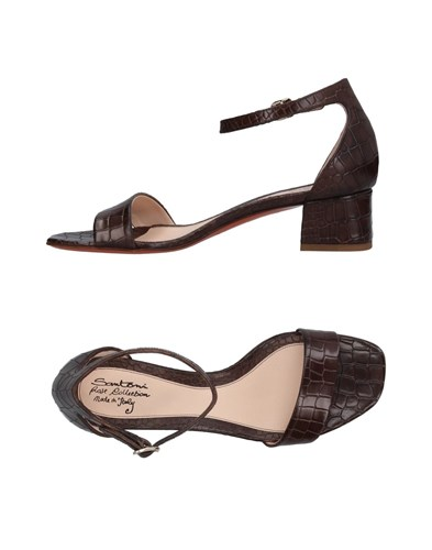 SANTONI ROSE Sandals Dark Brown RYA5L