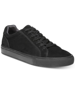 Dr. Scholl's Men's Rhythms Suede Low Top Sneakers Men's Shoes Black Black OECC3