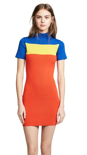 Solace London Manon Dress Bright Blue Yellow Red 3LP1c3
