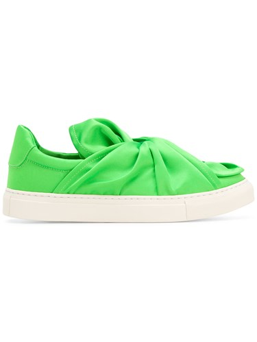 Slip Ports 1961 Green Front Knot Sneakers On axTqxPwn