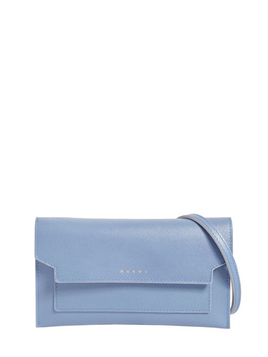 Marni Trunk Wallet Leather Crossbody Bag Sky Blue Z36Cm2
