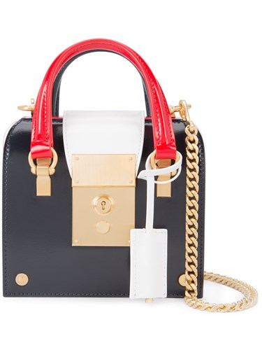 Thom Browne Mrs. Tiny With Chain Shoulder Strap In Calf Leather Red GCqQO