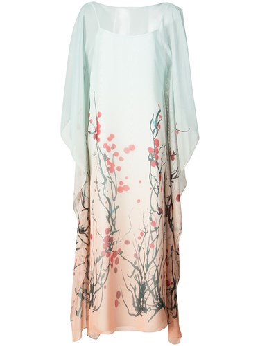 Vionnet Blossom Print Shift Dress Blue KPnCyoQ