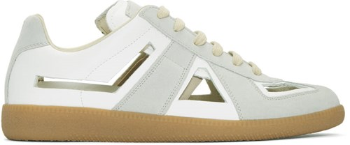 Maison Martin Margiela White And Grey Decortique Cut Out Replica Sneakers wQrWl0oP