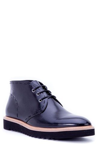 Zanzara Lombardo Chukka Boot Black Leather dRSgM
