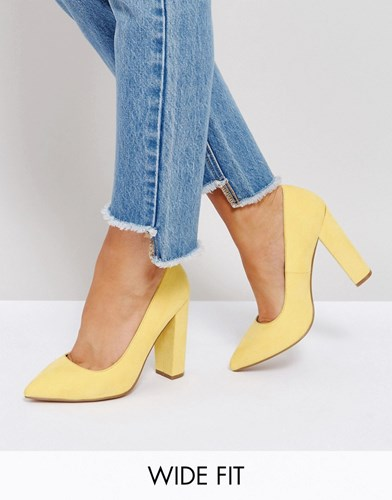 Heels Yellow Fit Asos Pointed Phantom Wide IYy81f