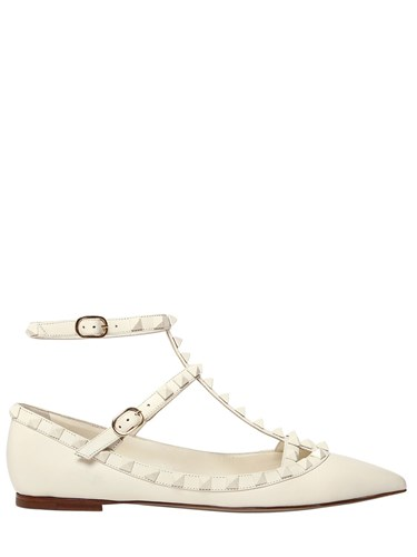 Flats Block Leather Color Rockstud Valentino zwPRaAqg