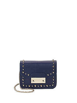 Furla Julia Leather Mini Crossbody Bag Navy IGO5z9dQhG