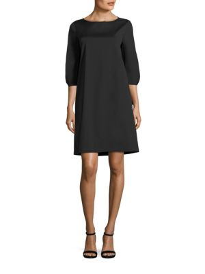 Lafayette 148 New York Elaina Tie Cuff Dress Black mcUXb