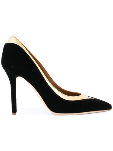 Malone Souliers Emmanuelle Pumps Leather Nappa Leather Polyester Black rA6yPSo