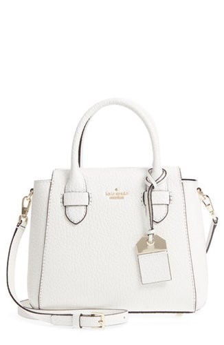 Kate Spade New York Carter Street Kylie Leather Satchel White Bright White 2Trf3nd