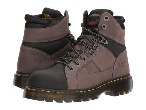Dr. Martens Work Ironbridge Tectuff Steel Toe Grey Black Boots Gray qzGVmkU