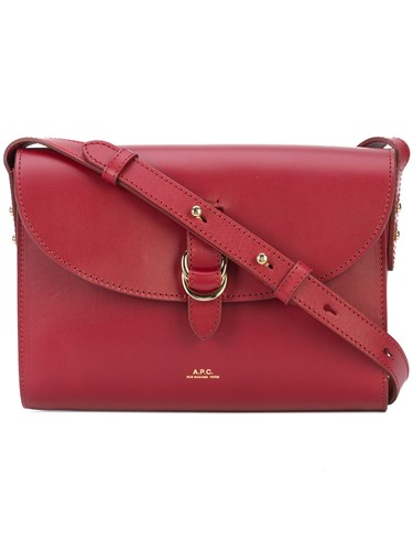 A.P.C. Buckle Shoulder Bag Red aC1mexNol