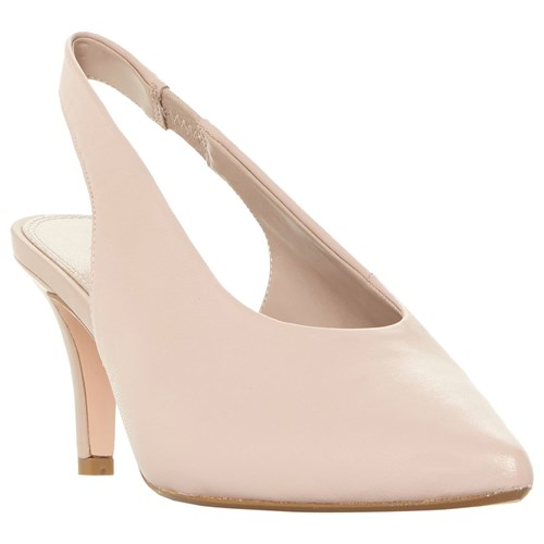 Dune Cas Pointed Toe Court Shoes Blush Leather 1bor7CfwXS