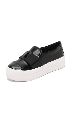 DKNY Banner Bow Slip On Sneakers Black 0FIM0
