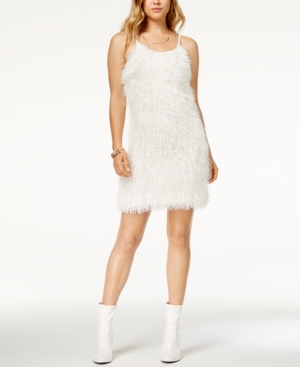 Glam By Glamorous Adjustable Shaggy Mini Dress Created For Macy's White jJ5QP5M3