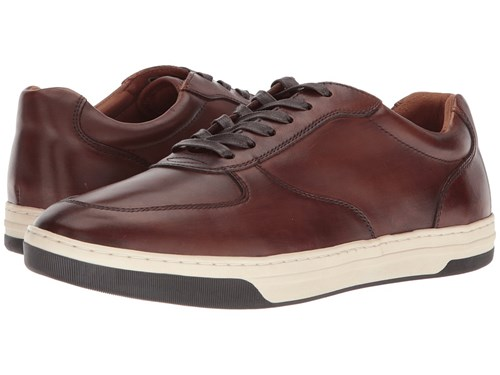 Johnston & Murphy Fenton U Throat Tan Hand Finished Calfskin Lace Up Casual Shoes Brown auImufvSl
