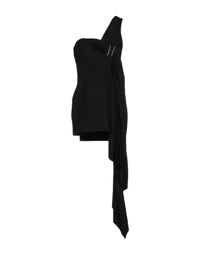 Anthony Vaccarello Short Dresses Black NRdco