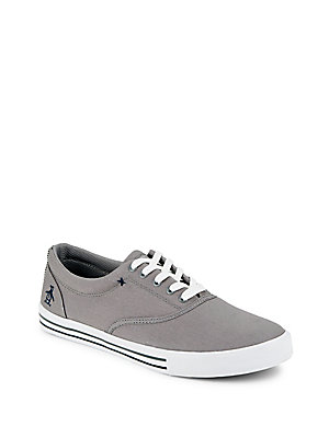 Original Penguin Buckley Lace Up Canvas Sneakers Grey vv7QY