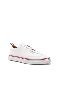 Thom Browne Pebble Grain Trainers In White lbtImbsv