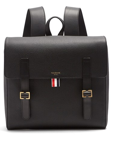 Buckle Grained Thom Black Strap Browne Backpack Leather q0p1W8Bv1