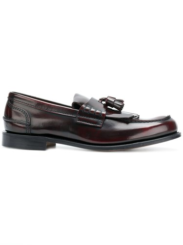 Church's Mocassin Loafers Red CBV13r