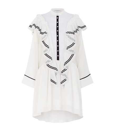 Philosophy di Lorenzo Serafini Asymmetric Ruffle Mini Dress White AE9sX6Gh1a
