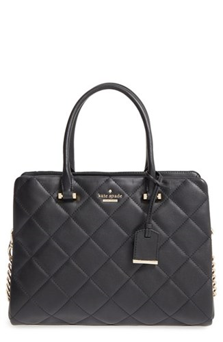 Kate Spade New York 'Emerson Place Olivera' Quilted Leather Satchel Black 5HC5Vekp0
