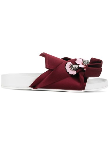 N°21 No21 Embellished Abstract Bow Slides Red l0991zq