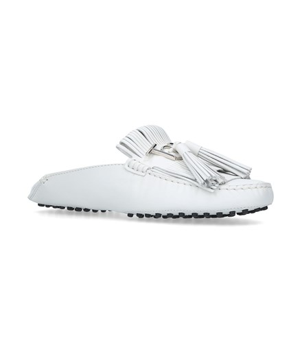 Tod's Gommino Mule Loafers White ZXQsI6