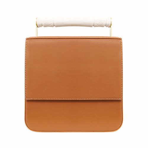 Crossbody Brown AEVHA With Handle Tan In London Resin Helve ZZwxCHnq