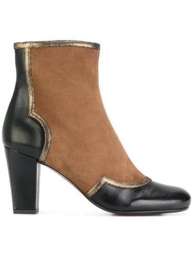 Chie Mihara Auren Boots Leather Suede Rubber Black qymfp