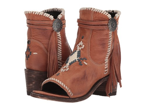 Double D Ranchwear by Old Gringo Tuskegee Cognac Blue Cowboy Boots Brown FsvnGB